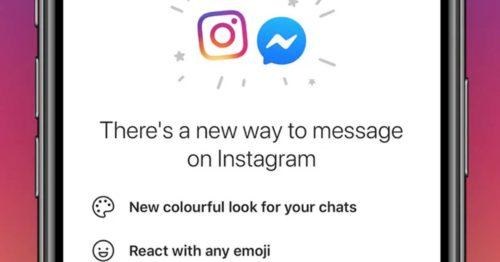 Fusion chats Instagram et Messenger